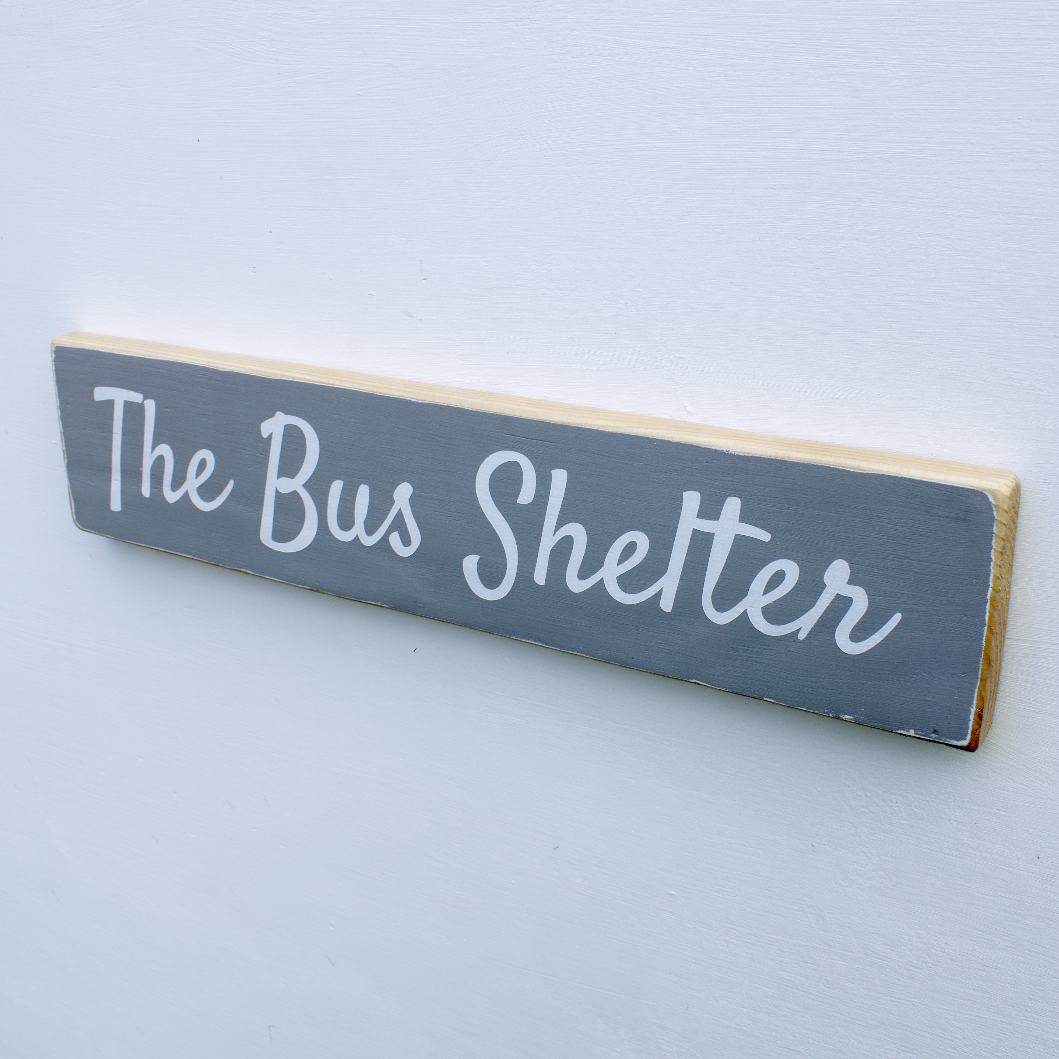 British handmade wooden sign Welcome to our home